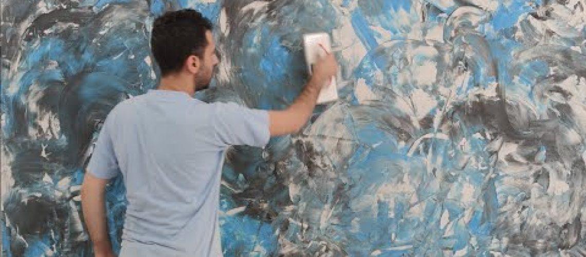 BİR İLK! Boya Karışımlı Alçı Sıva Çalışması İle inanılmaz Duvar