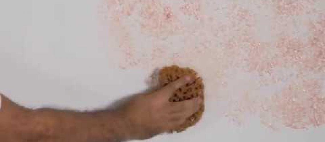 Bi'Boya Sedef Deniz Süngeri Desen Uygulaması ve Desenli Saten Rulo