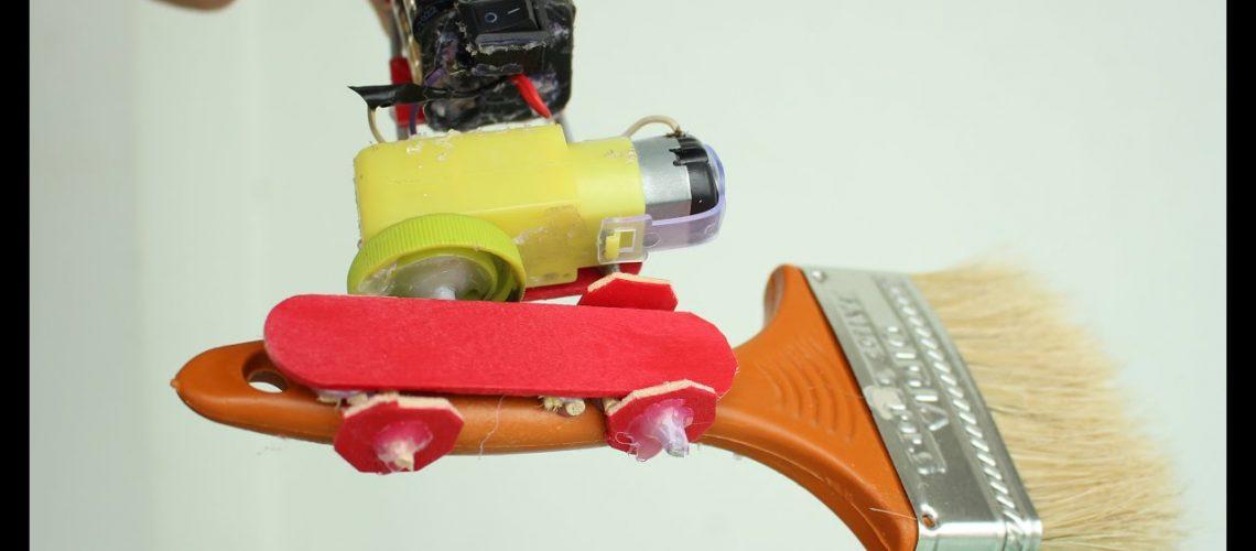 Bir boya fırçası robot yapmak nasıl