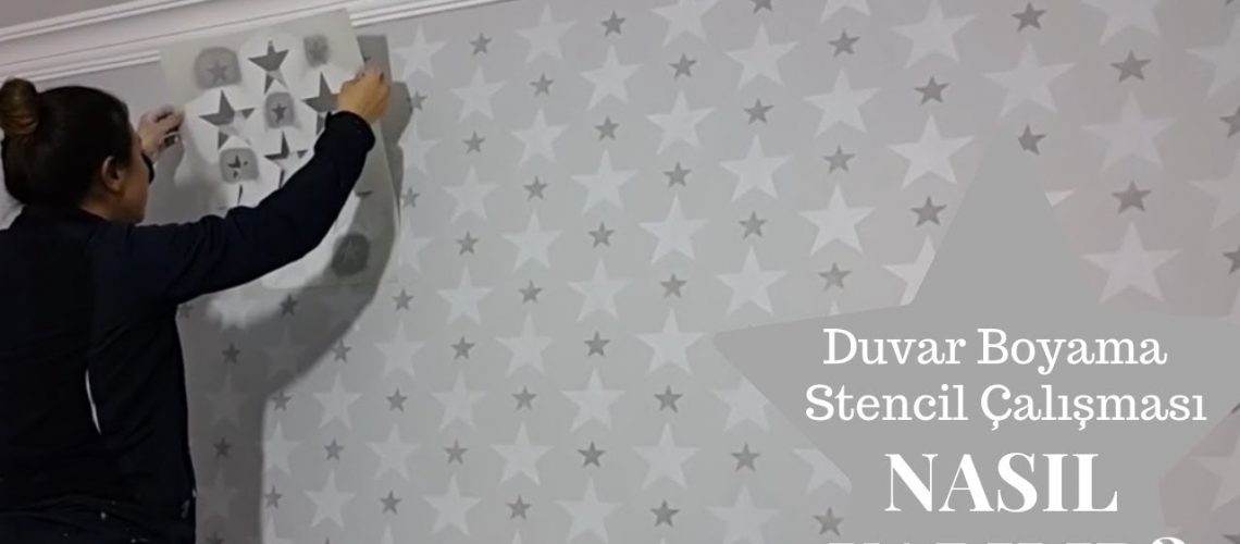 Çocuk Odası Duvarına Stencil Uygulama ve Boyama DİY