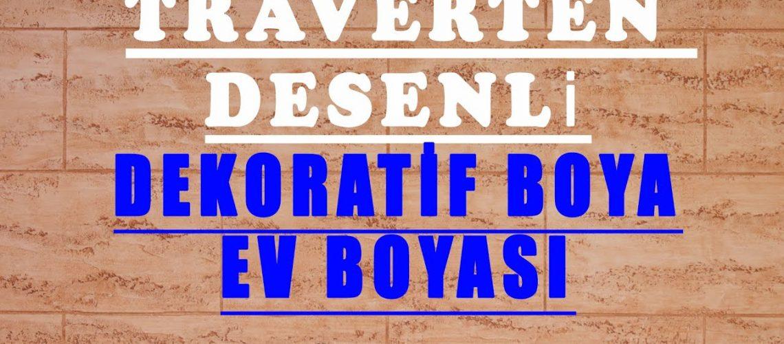 Dekoratif Boya Nasıl Yapılır - Traverten Desenli Boya - Ev