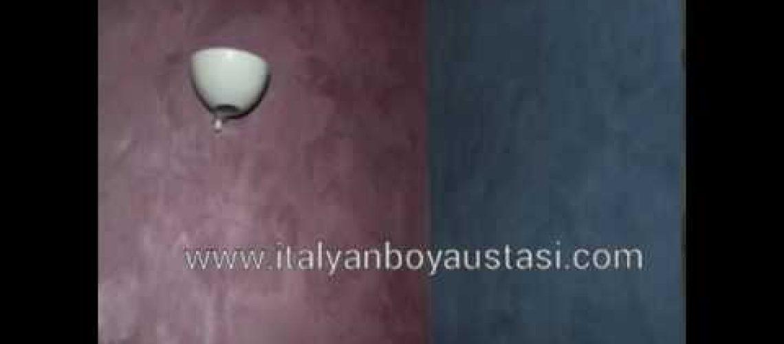 Dekoratif boya İtalyan dekoratif boyama travetino modeli İtalyan boya