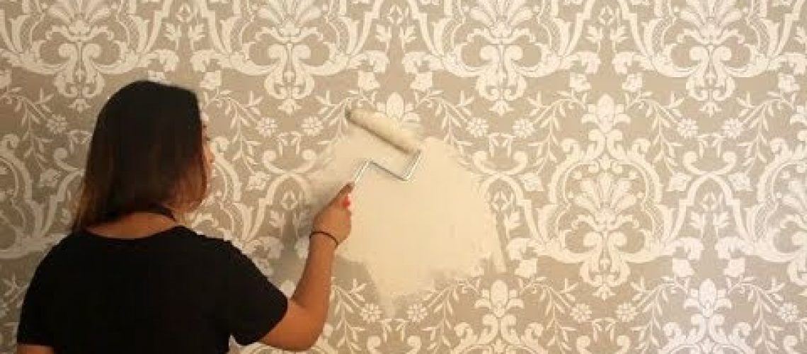 How to Stencil an Embossed Wall with Raised Designs &