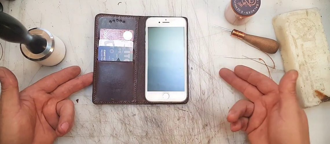 Leather Credit Card Holder Phone Case | DIY | how