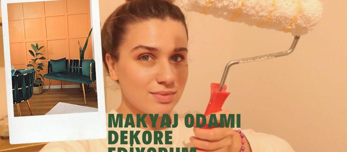 Makyaj Odami Dekore Ediyorum | Boya Badana, Vlog3
