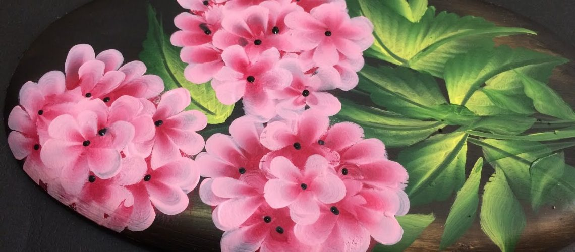 One Stroke Painting Tutorial- Decorative Flowers on Plaster of Paris