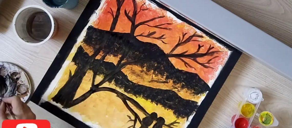 SÜNGER BOYAMA TEKNİĞİ ile HARİKA tablolara imza atın!