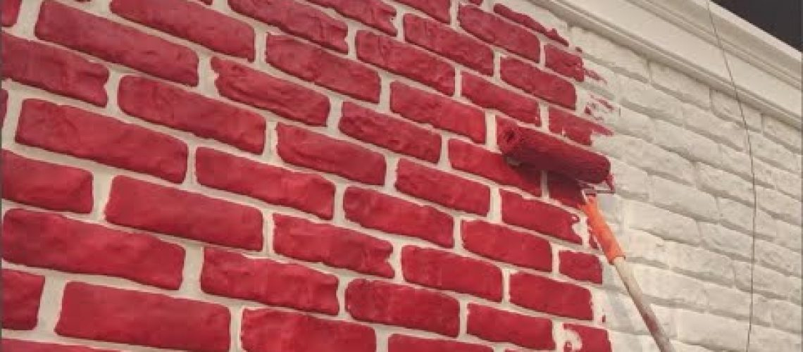 Ustasından Taş görünümlü Panel Uygulama Ve Boyama! - Stone panel